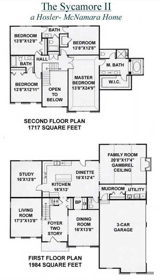 Hosler-McNamara Homes Sycamore II Floor Plan Presented By Peggy Cain.